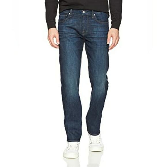 🔥SOLD🔥 7FAMK Mens Standard Straight Dark Jeans